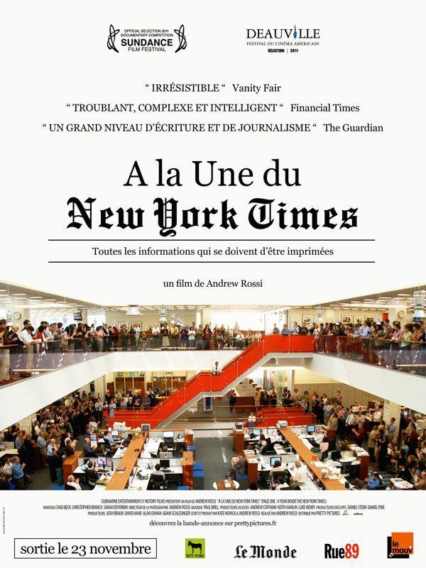 A la une du New York Times - Documentaire (2011)