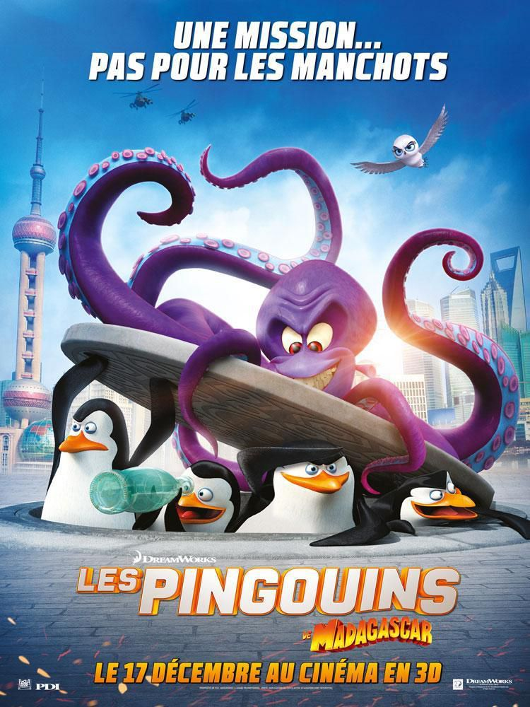 Les Pingouins de Madagascar - Long-métrage d'animation (2014)