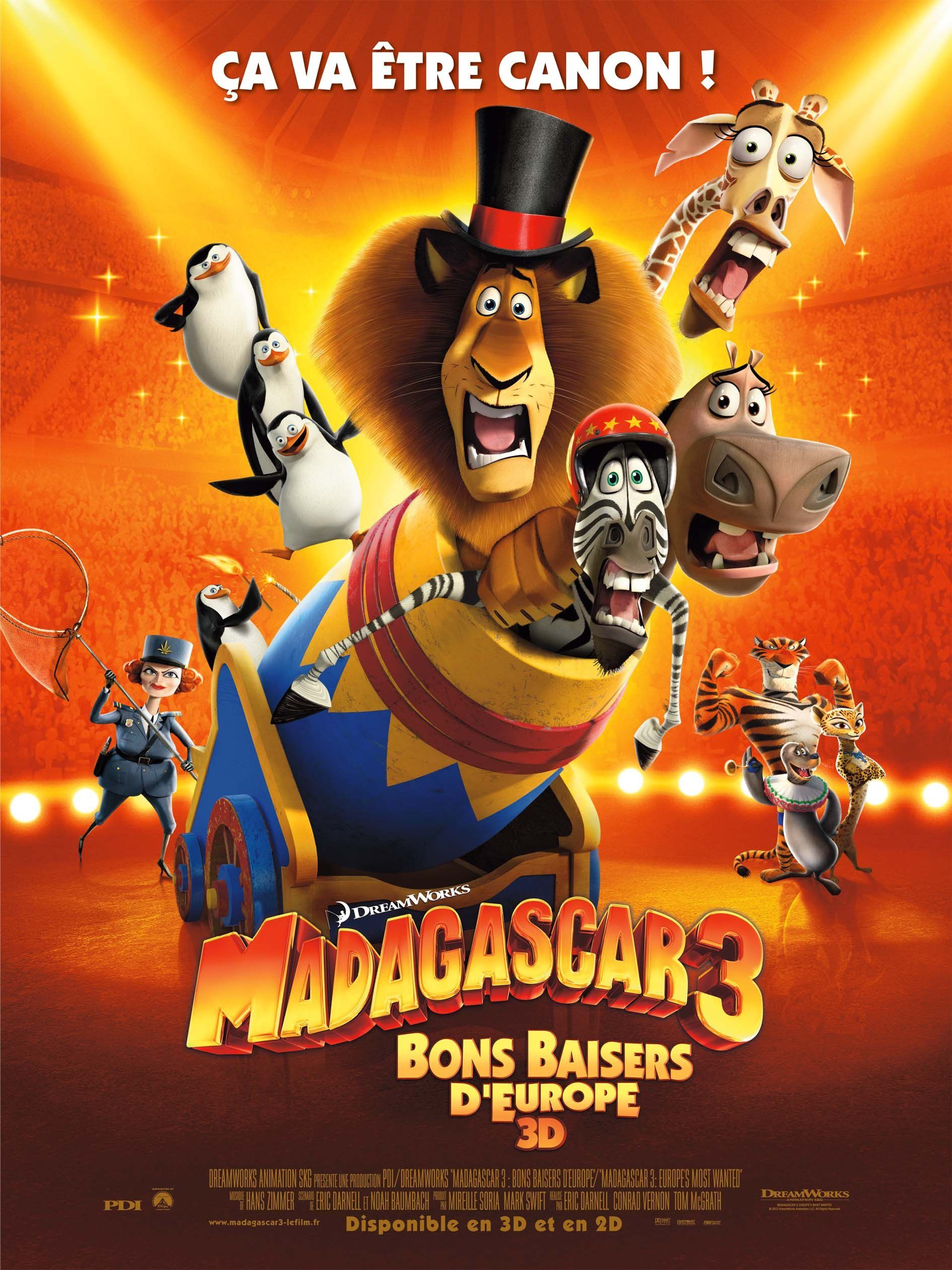 Madagascar 3 : Bons Baisers d'Europe - Long-métrage d'animation (2012)