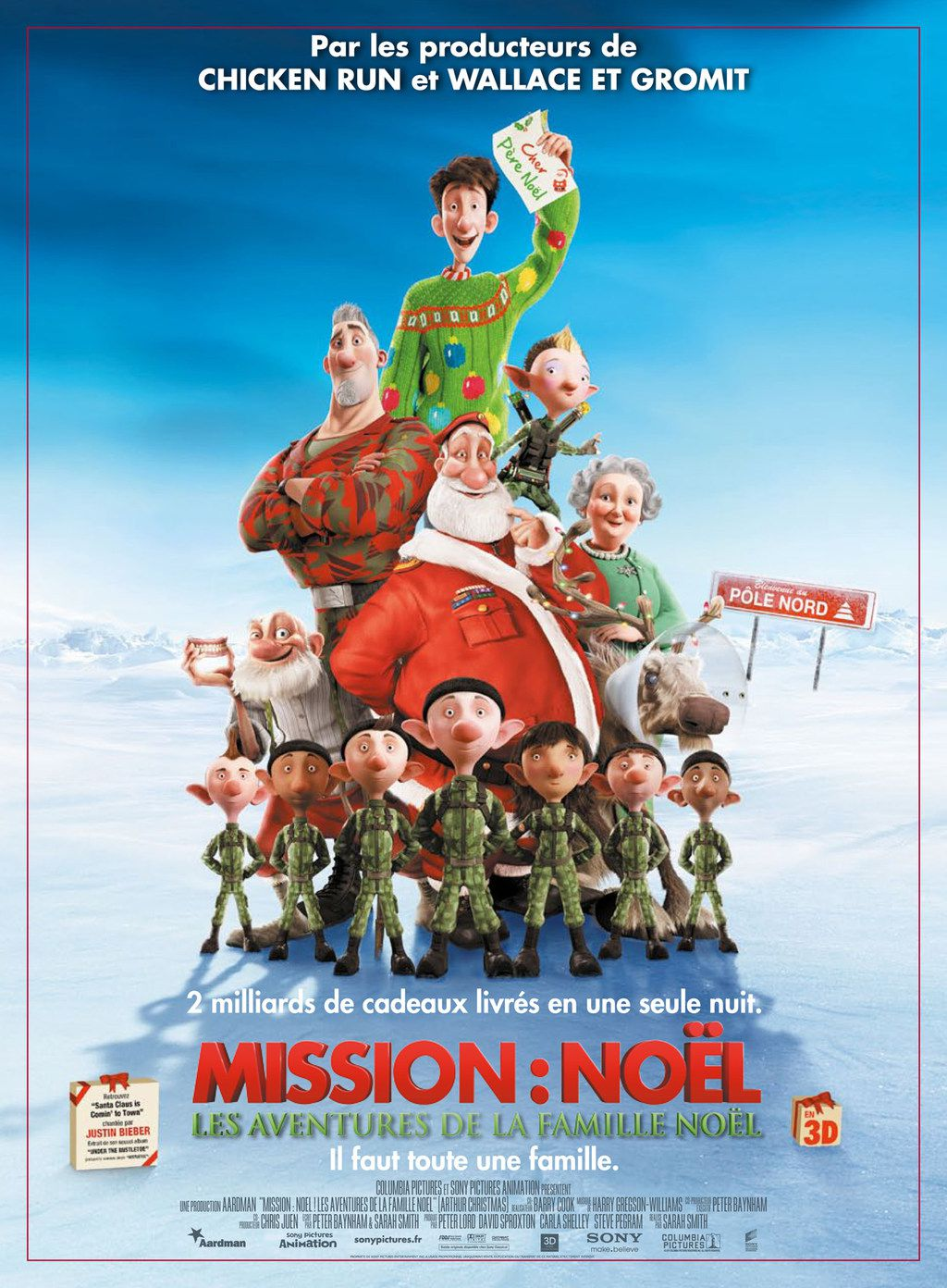 Mission : Noël - Les Aventures de la famille Noël - Long-métrage d'animation (2011)