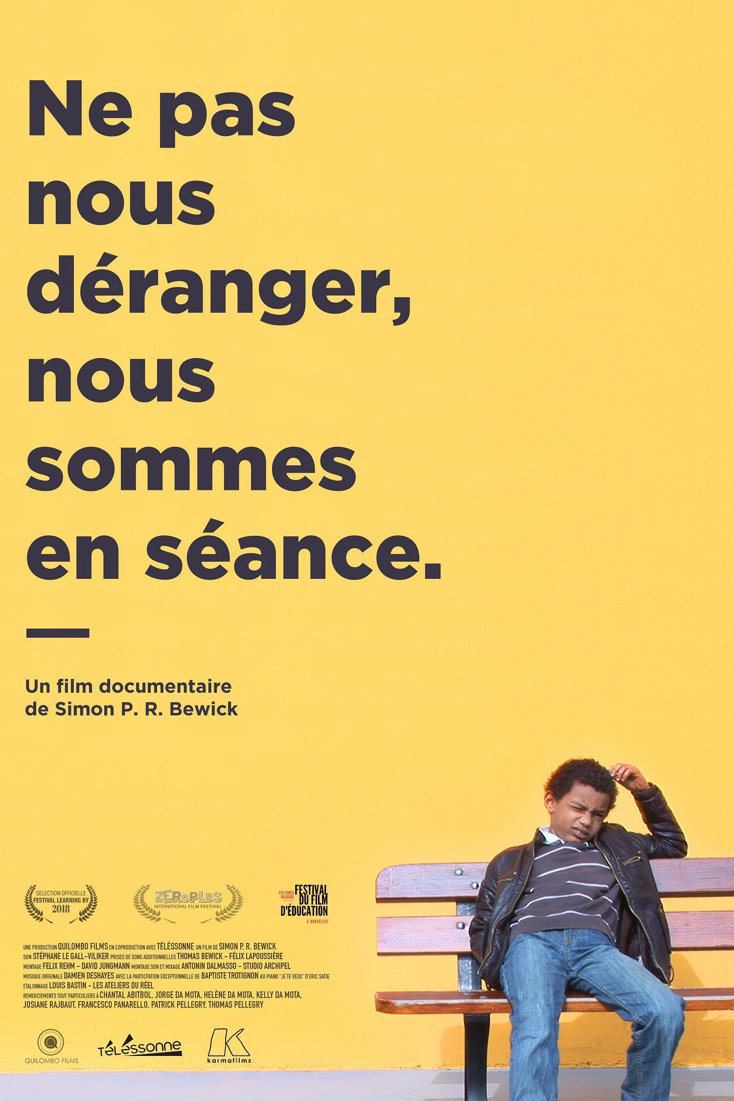 Ne pas nous déranger, nous sommes en séance - Documentaire (2015)